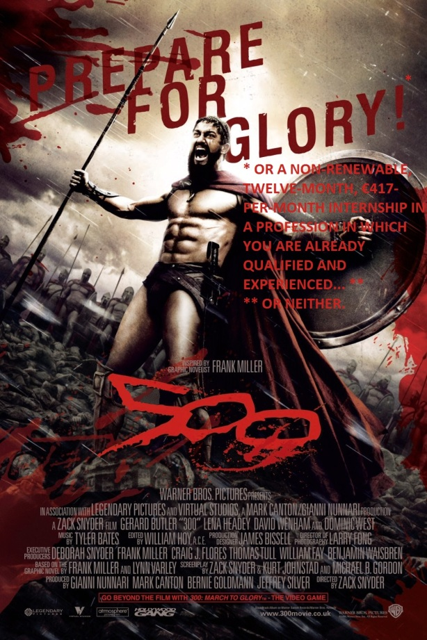 Reworked movie poster for 300 (2)