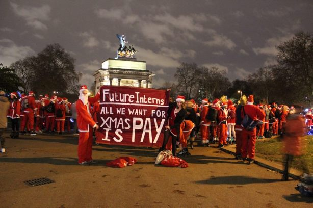 photo of Future Interns' direct action at the Serpentine Galleries